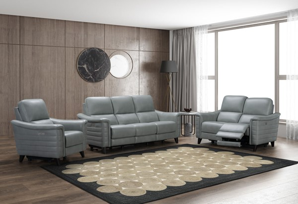 Barcalounger Malone Green Gray 3pc Living Room Set BRC-9PH3081373-LR-S1