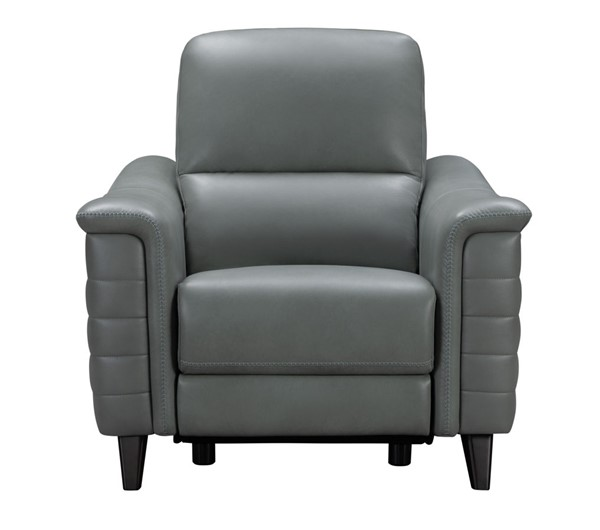 Barcalounger Malone Antonio Green Gray Leather Match Power Recliner BRC-9PH3081373427