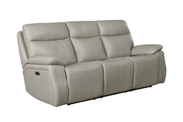 Barcalounger Micah Venzia Cream Leather Match Power Reclining Sofa BRC-39PH3628370881