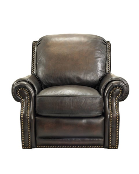 Premier Traditional Stetson Coffee Leather Power Recliner BRC-9-6600-5407-41