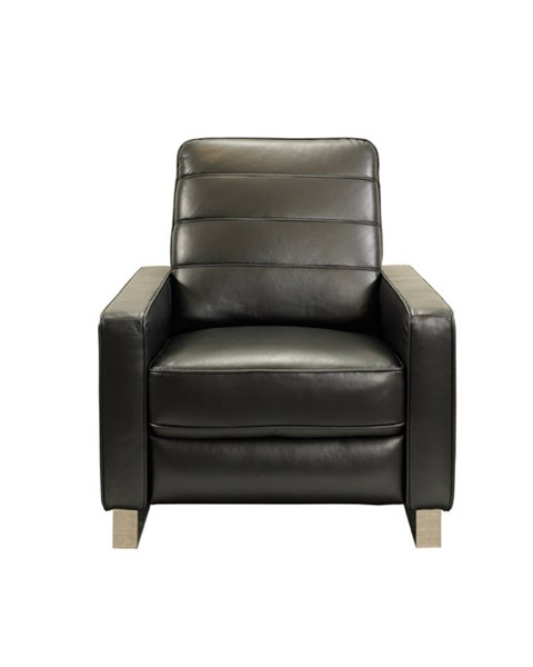 Reese Contemporary Wilton Raven Leather Pocketed Coils Recliner BRC-7-2169-3464-99