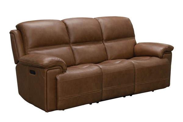 Barcalounger Sedrick Spence Caramel Power Reclining Sofa With Power Head Rests BRC-39PH3664372185