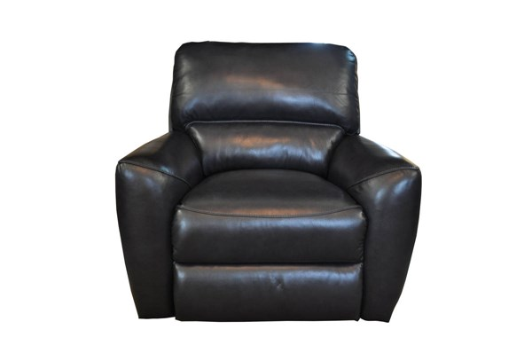 Stratford Casual Stansbury Grey Leather Match Power Recliner BRC-9-3026-3444-95