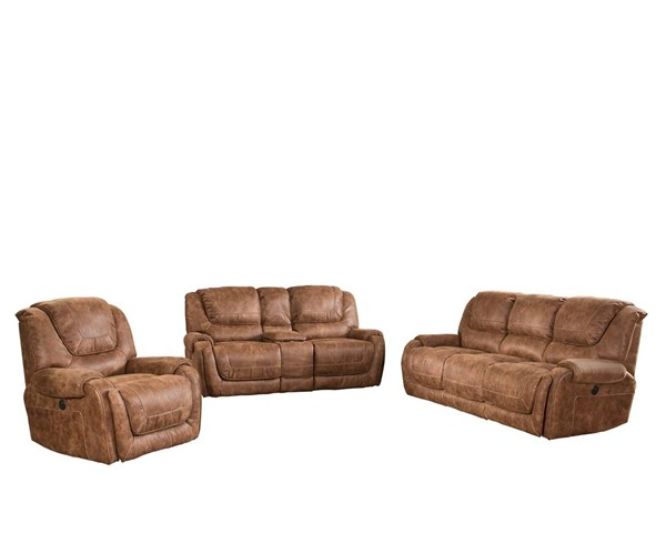 Vincent Ford Chestnut Fabric Lay Flat Power Living Room Set BRC-VINCENT-LR
