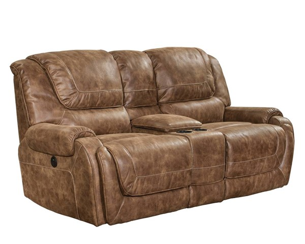 Vincent Casual Ford Chestnut Fabric Console Power Loveseat BRC-24-4561-6027-87