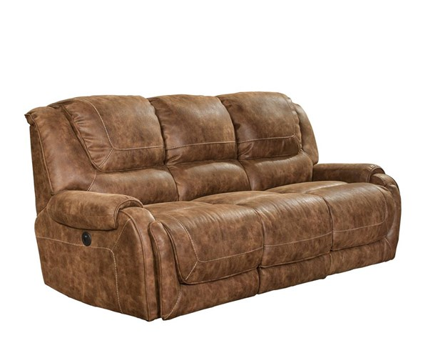Vincent Casual Ford Chestnut Fabric Power Reclining Sofa BRC-39-4561-6027-87