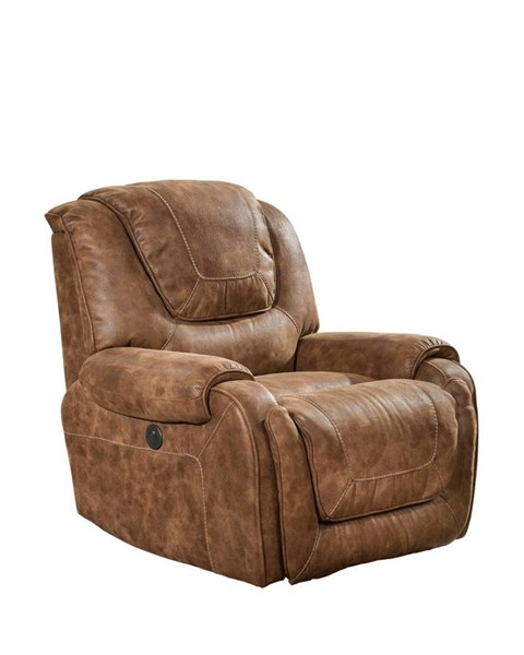 Vincent Casual Ford Chestnut Fabric Seat Cushions Power Recliner BRC-9-4561-6027-87