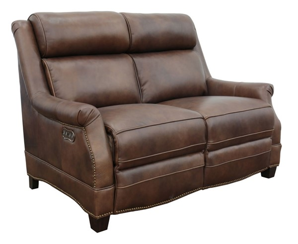 Barcalounger Warrendale Worthington Cognac Power Headrests Reclining Loveseat BRC-29PH3324546085