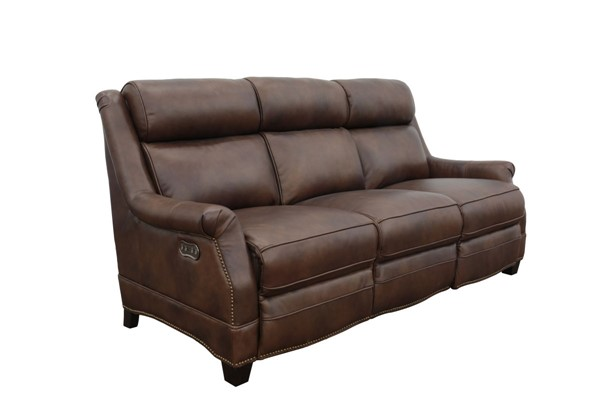 Barcalounger Warrendale Worthington Cognac Power Headrests Reclining Sofa BRC-39PH3324546085