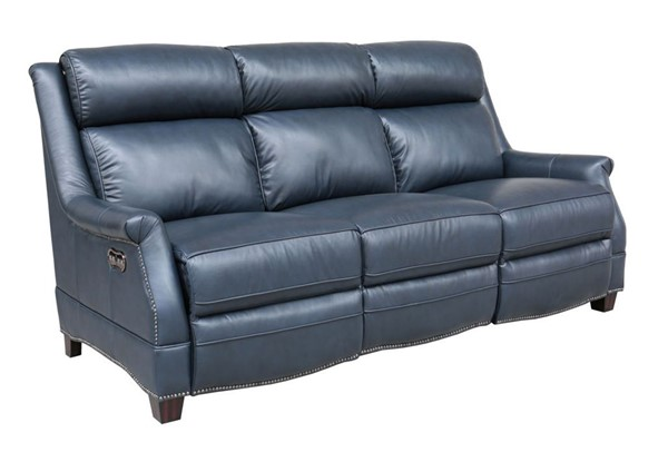 Barcalounger Warrendale Shoreham Blue Power Headrests Reclining Sofa BRC-39PH3324570047