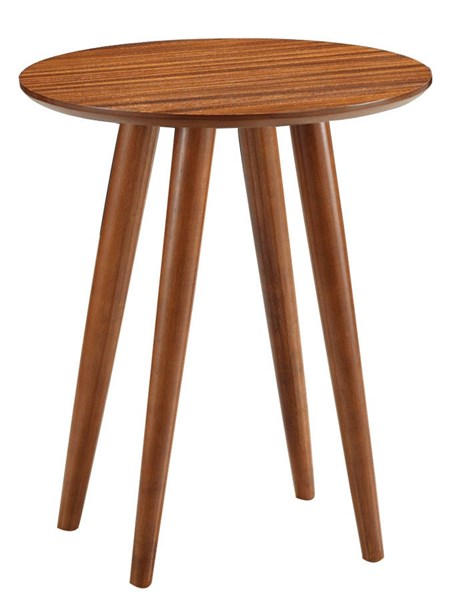 Boraam Zebra Series Rich Walnut Varberg Side Table BRM-33711