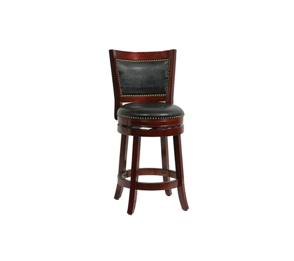 Boraam Bristol Cherry 24 Inch Swivel Stool BRM-42924