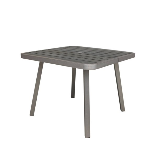 Boraam Fresca Gray Square Dining Table BRM-76661