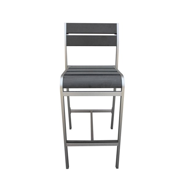 2 Fresca Contemporary Gray Aluminum 29 Inch Barstools The Classy Home