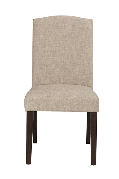 2 Boraam Champagne Oatmeal Parson Dining Chairs BRM-83518