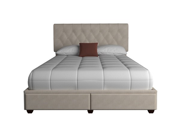 Bernards Elise Upholstered Queen Storage Bed BRND-1192DS-105