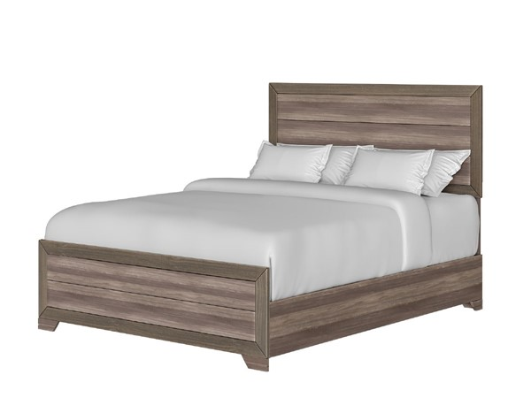 Bernards Asheville Weathered Driftwood King Panel Bed BRND-1651