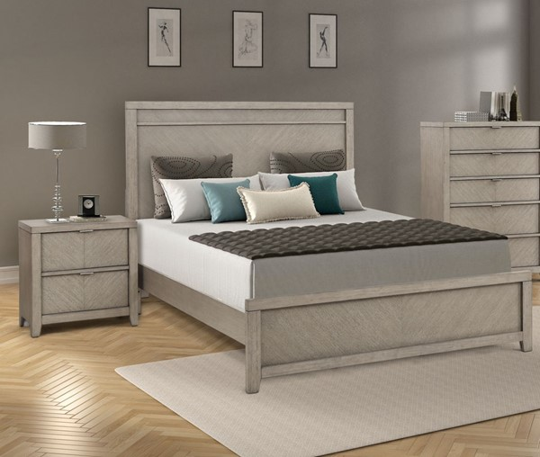 Bernards Fresno 2pc Bedroom Set with King Panel Bed BRND-1914-110-BR-S1