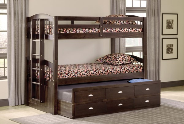 Bernards Maddock Merlot Captains Trundle Bunk Bed BRND-3340