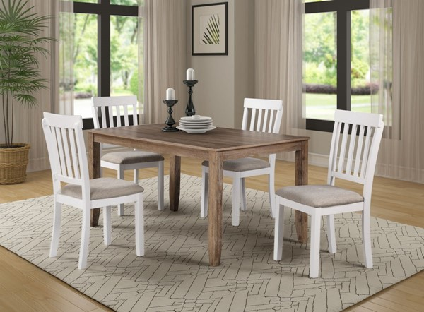 Bernards Hutton Casual Fabric 40 Inch 5pc Dining Set BRND-5880-500