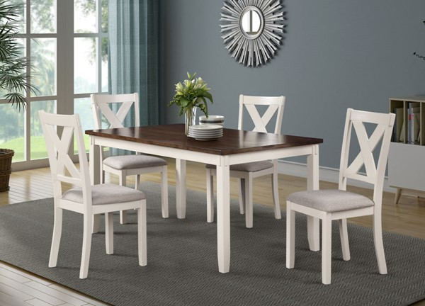Bernards Shady Casual 60 Inch 5pc Dining Set BRND-5886-501