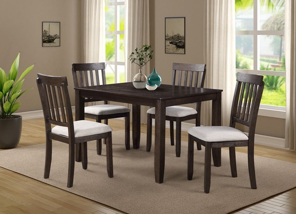 Bernards Lockwin Casual 60 Inch 5pc Dining Set BRND-5888-501