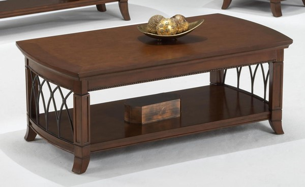 Bernards Cathedral Cherry Metal Cocktail Table BRND-8620