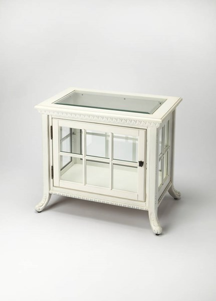Masterpiece Chopin Cottage White Hardwood MDF Side Chair Curio BSF-0339222