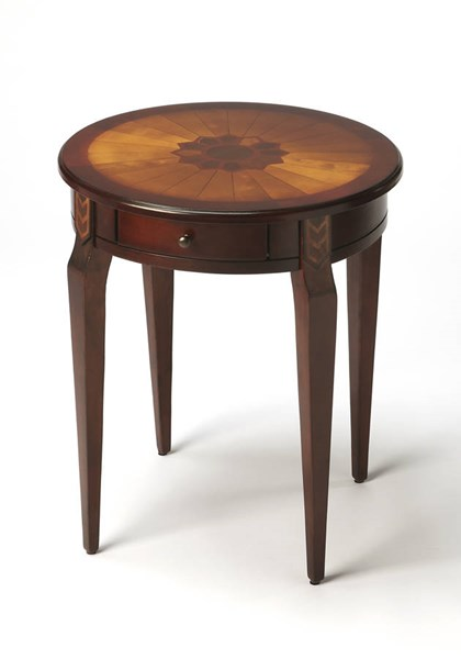 Plantation Cherry Archer Traditional Dark Brown Side Table BSF-0341024