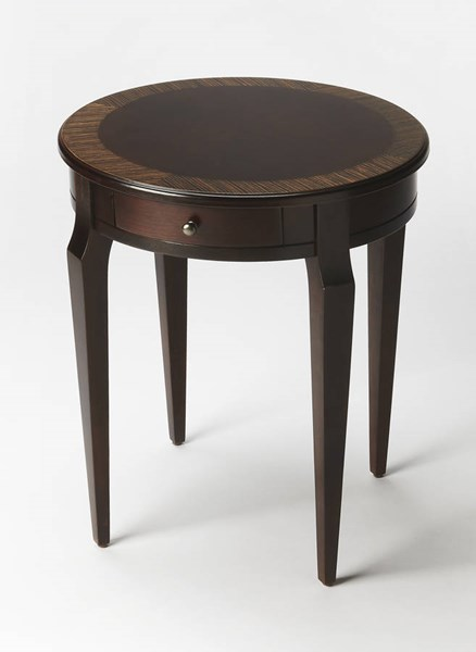 Masterpiece Archer Traditional Dark Brown Cafe Nouveau Side Table BSF-0341211