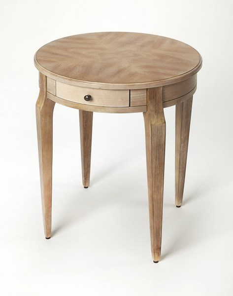 Masterpiece Archer Transitional Gray Driftwood Hardwood Side Table BSF-0341247