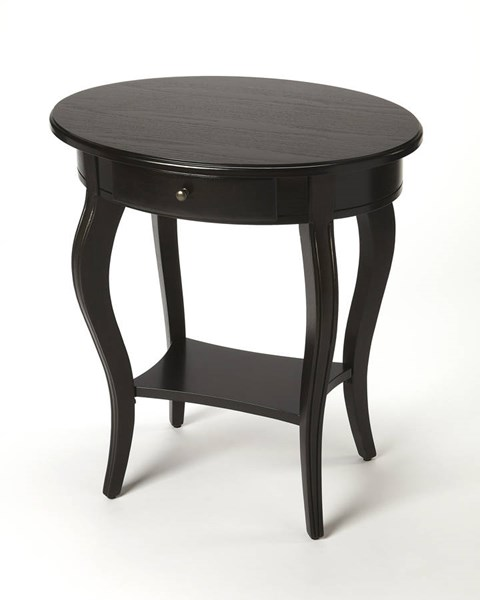 Masterpiece Jeanette Transitional Black Brushed Sable Accent Table BSF-0532005
