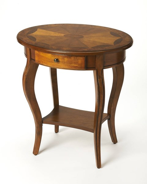 Butler Specialty Masterpiece Jeanette Olive Ash Oval Accent Table BSF-0532101