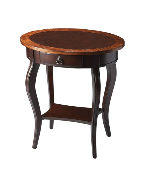 Butler Specialty Masterpiece Jeanette Dark Brown Oval Accent Table BSF-0532211