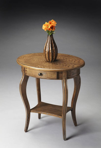 Masterpiece Jeanette Transitional Medium Brown Oval Accent Table bsf-0532245