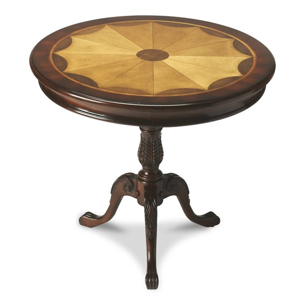 Butler Specialty Plantation Cherry Carissa Round Pedestal Table BSF-0533024