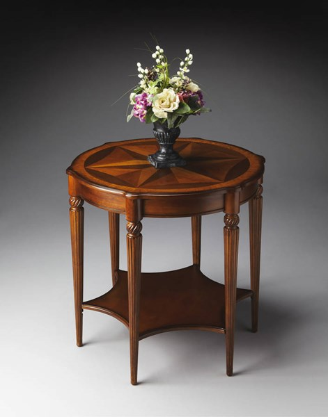 Masterpiece Bainbridge Traditional Medium Brown Accent Table BSF-0557101