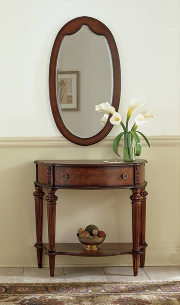 Plantation Cherry Halifax Traditional Dark Brown Console Table BSF-0589024