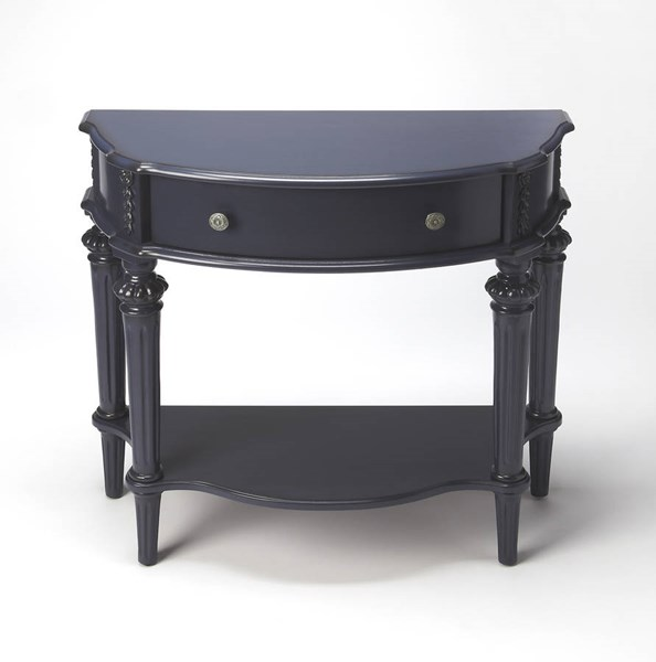 Masterpiece Halifax Blue Cherry Rubberwood MDF Resin Console Table BSF-0589291