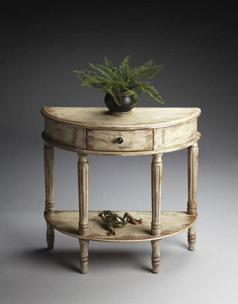 Artists Originals Mozart Chateau Gray Demilune Console Table BSF-0667230