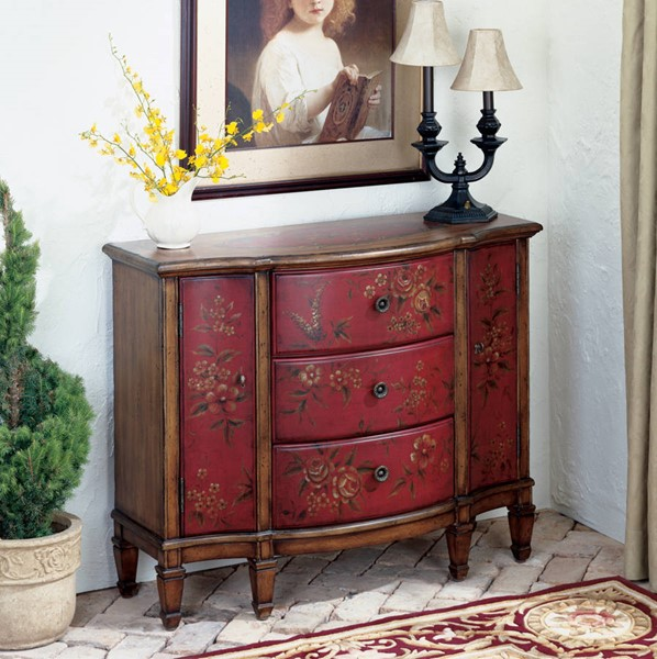 Artists Originals Sheffield Red Hand Painted Console Cabinet BSF-0674065