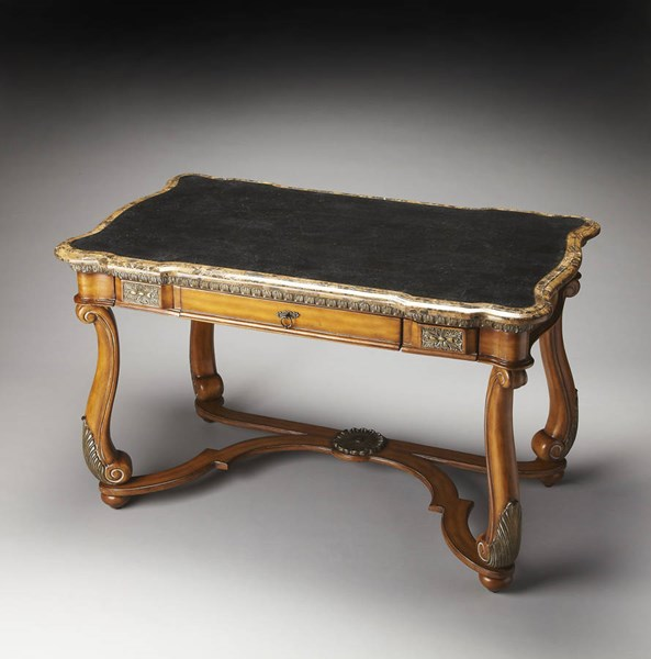Heritage Traditional Fossil Stone Writing Desk BSF-0783070