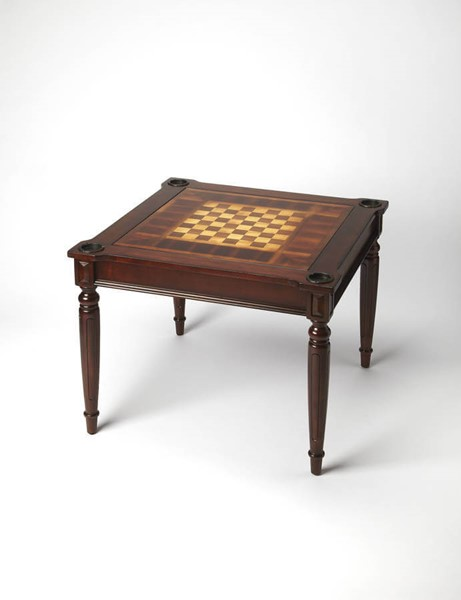 Masterpiece Vincent Cherry Poplar Hardwood MDF Multi-Game Card Table BSF-0837024