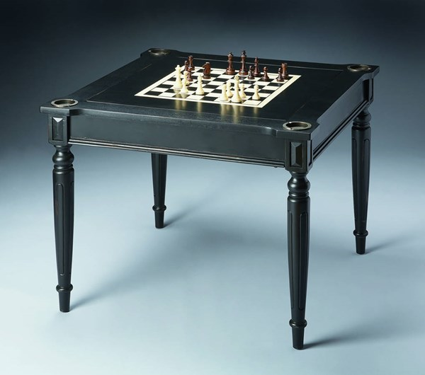 Masterpiece Vincent Transitional Black Licorice Multi-Game Card Table BSF-0837111
