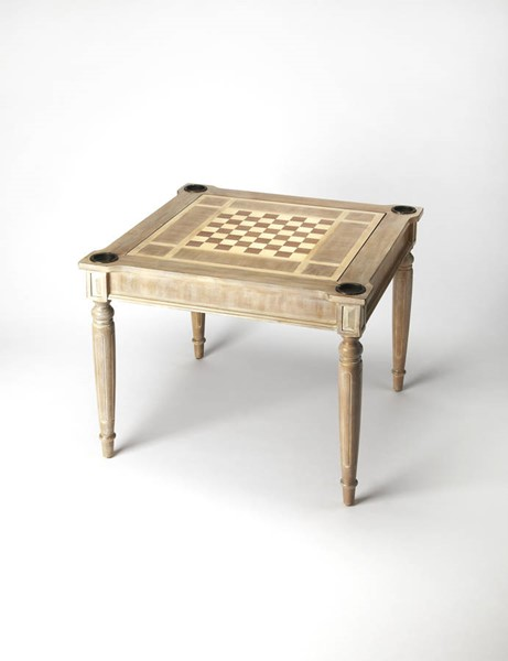 Masterpiece Vincent Gray Driftwood Hardwood MDF Multi-Game Card Table BSF-0837247