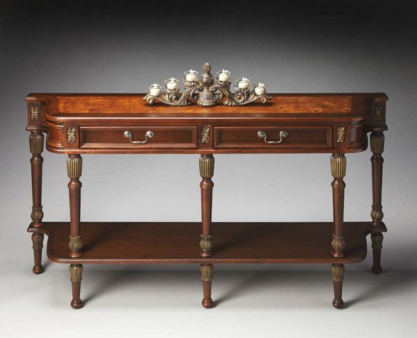 Masterpiece Merrion Traditional Dark Brown Console Table BSF-0872030