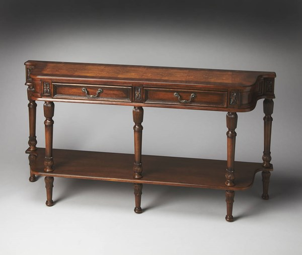 Masterpiece Merrion Traditional Medium Brown Console Table BSF-0872101