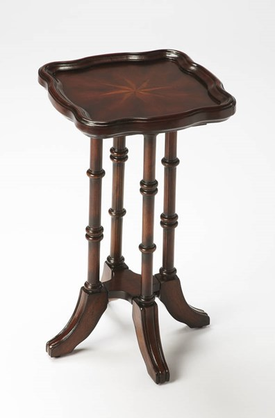Plantation Cherry Briscoe Traditional Dark Brown Scatter Table BSF-0937024