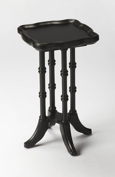Masterpiece Briscoe Black Licorice Rubberwood Resin MDF Scatter Table BSF-0937111