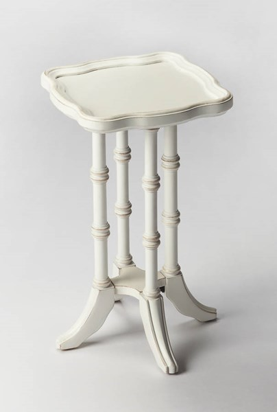 Masterpiece Briscoe Cottage White Rubberwood Resin MDF Scatter Table BSF-0937222